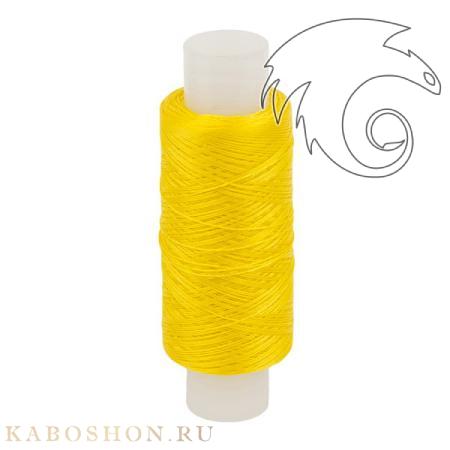 Нитки лавсановые 33Л канареечно-желтые для бисероплетения