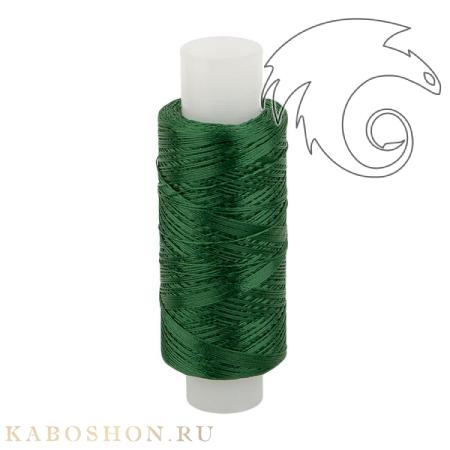Нитки лавсановые 33Л травянисто-зеленые для бисероплетения