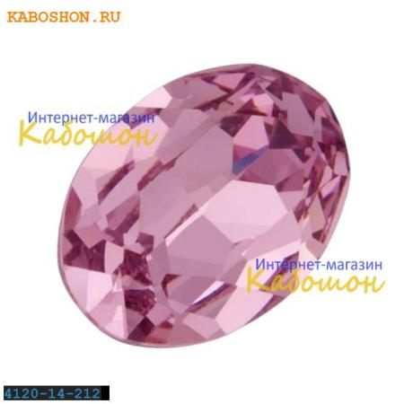 Кристалл Swarovski (Сваровски) Oval Fancy stone 14x10 мм Lt.Amethyst