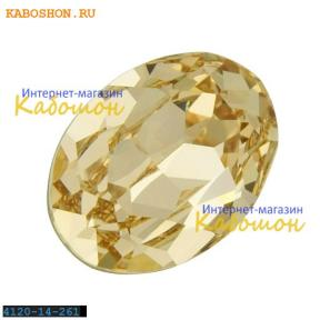 Swarovski Oval Fancy stone 14x10 мм Lt.Silk