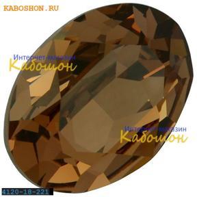 Swarovski Oval Fancy stone 18х13 мм Lt.Smoked Topaz