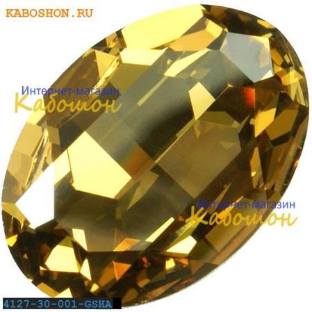 Swarovski Fancy stone 30x22 мм Crystal Golden Shadow