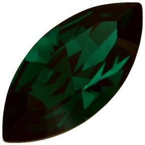 Swarovski Navette Fancy stone 15х7 мм Emerald