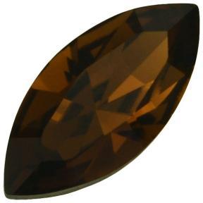 Swarovski Navette Fancy stone 15х7 мм Smoked Topaz