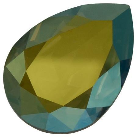 Swarovski Pear Fancy stone 14х10 мм Crystal Iridescent Green