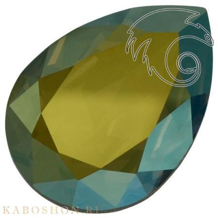Кристалл Swarovski (Сваровски) Pear Fancy stone 14х10 мм Crystal Iridescent Green