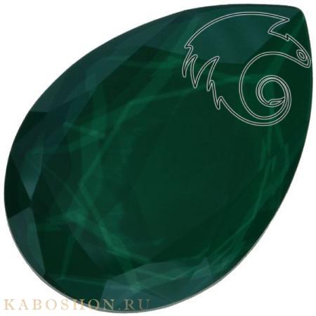 Кристалл Swarovski (Сваровски) Pear Fancy stone 30х20 мм Crystal Royal Green