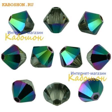 Swarovski Xilion beads 4 мм Crystal Scarabaeus Green