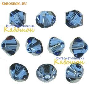 Swarovski Xilion beads 3 мм Sapphire Satin