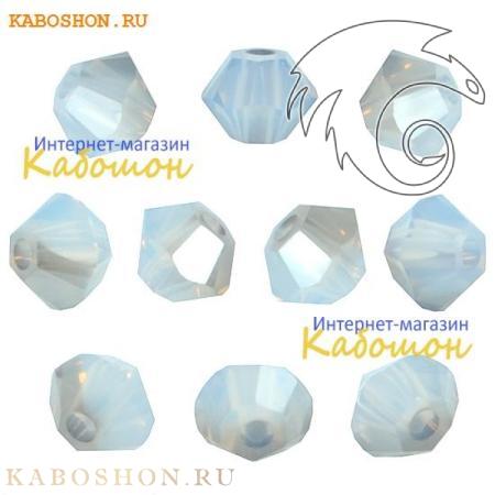 Бусина биконус Swarovski (Сваровски) Xilion beads 3 мм White Opal Satin