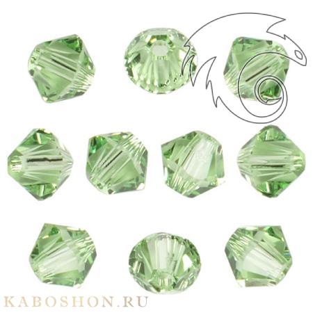 Бусина биконус Swarovski (Сваровски) Xilion beads 3 мм Peridot