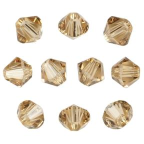 Swarovski Xilion beads 3 мм Lt.Colorado Topaz