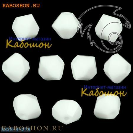 Бусина биконус Swarovski (Сваровски) Xilion beads 4 мм Chalkwhite