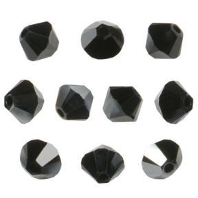 Swarovski Xilion beads 3 мм Jet Hematite
