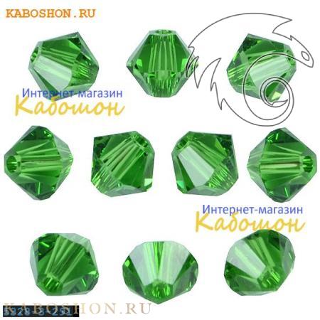Бусина биконус Swarovski (Сваровски) Xilion beads 4 мм Fern Green