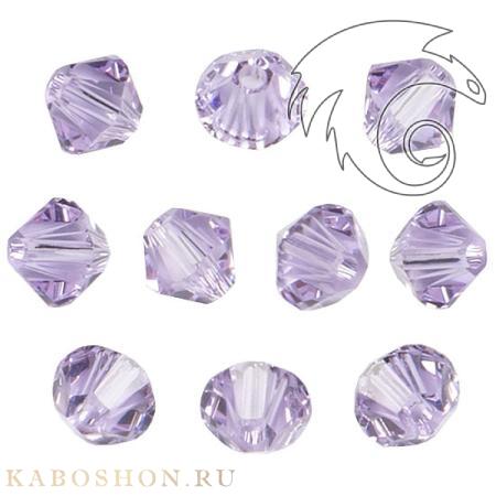 Бусина биконус Swarovski (Сваровски) Xilion beads 3 мм Violet