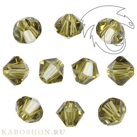 Бусина биконус Swarovski (Сваровски) Xilion beads 3 мм Khaki