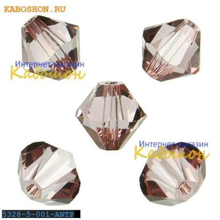 Swarovski Xilion beads 5 мм Crystal Antique Pink