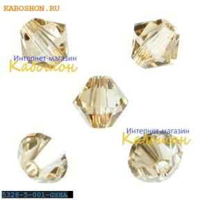 Swarovski Xilion beads 5 мм Crystal Golden Shadow