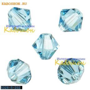 Swarovski Xilion beads 5 мм Aquamarine