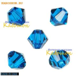 Swarovski Xilion beads 5 мм Capri Blue