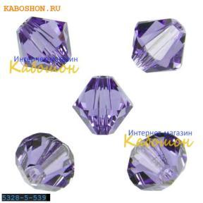 Swarovski Xilion beads 5 мм Tanzanite