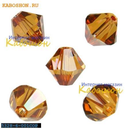 Swarovski Xilion beads 6 мм Crystal Copper