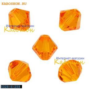 Swarovski Xilion beads 6 мм Tangerine