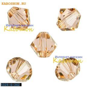 Swarovski Xilion beads 6 мм Light Peach