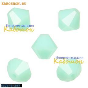 Swarovski Xilion beads 6 мм Mint Alabaster