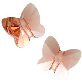 Swarovski Butterfly Bead 10 мм Blush Rose