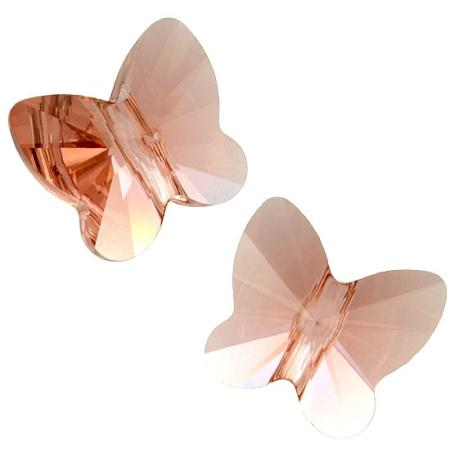 Бусина Swarovski (Сваровски) Butterfly Bead 10 мм Blush Rose