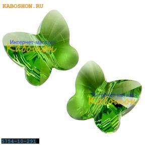 Swarovski Butterfly Bead 10 мм Fern Green