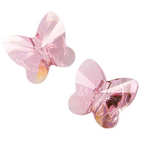 Swarovski Butterfly Bead 10 мм Lt.Rose