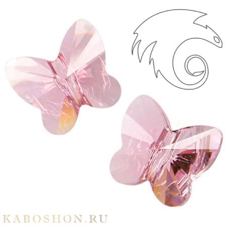 Swarovski Butterfly Bead 10 мм Light Rose 5754-10-223