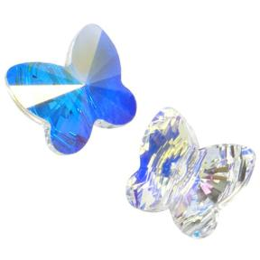 Swarovski Butterfly Bead 10 мм Crystal AB