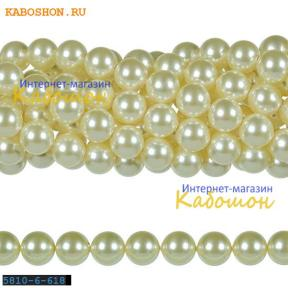 Жемчуг Swarovski 6 мм Crystal Light Creamrose