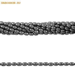 Жемчуг Swarovski рис 4 мм Crystal Dark Grey