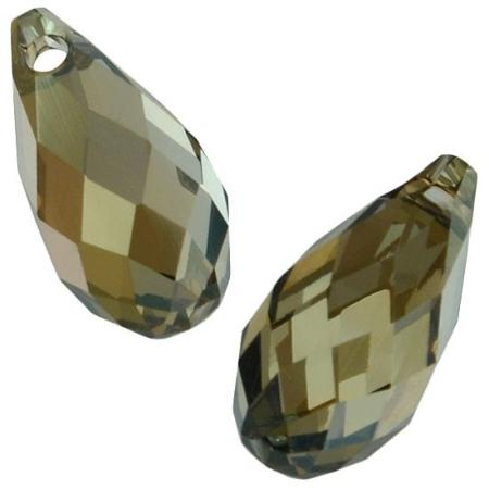 Бусина Swarovski (Сваровски) Briolette 11х5,5 мм Crystal Bronze Shade