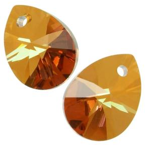 Swarovski Xilion Mini Pear Pendant 10 мм Crystal Copper