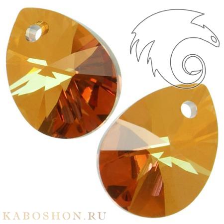 Подвеска-кристалл Swarovski (Сваровски) Xilion Mini Pear Pendant 10 мм Crystal Copper