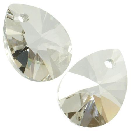 Swarovski Xilion Mini Pear Pendant 10 мм Crystal Silver Shade