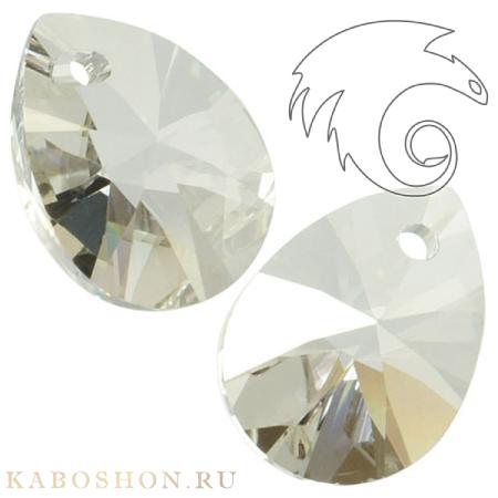 Подвеска-кристалл Swarovski (Сваровски) Xilion Mini Pear Pendant 10 мм Crystal Silver Shade