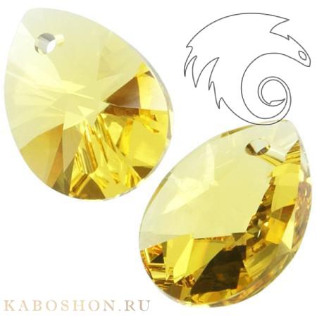 Подвеска-кристалл Swarovski (Сваровски) Xilion Mini Pear Pendant 12 мм Light Topaz