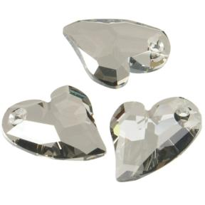 Swarovski Devoted 2 U Heart 17 мм Crystal Satin