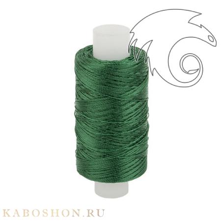 Нитки капроновые 50K изумрудно-зеленые для бисероплетения