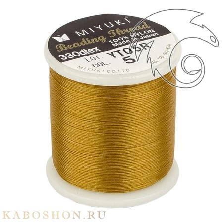 Нить Miyuki нейлоновая 50 м золото MiThr-K4570-05