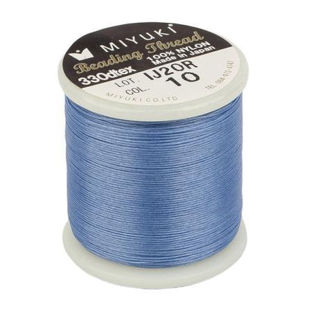 Нить Miyuki нейлоновая 50 м светло-голубая