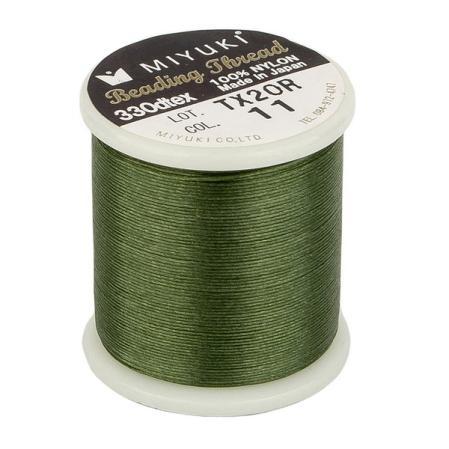 Нить Miyuki нейлоновая 50 м зеленая