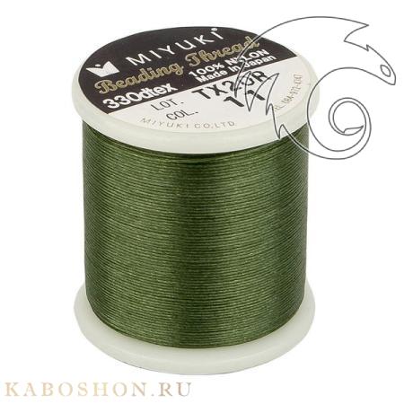 Нить Miyuki нейлоновая 50 м зеленая MiThr-K4570-11